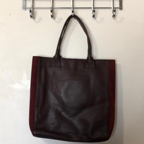 BCBGMaxAzria Handbags - Bcbg Maxazaria burgundy tote bag